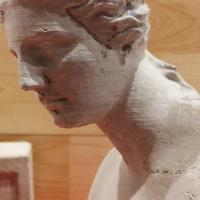 Buste Venus de milo / matériau béton / teinte naturelle / hauteur 18 cm