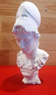 Athéna / matériau plâtre / hauteur 18 cm