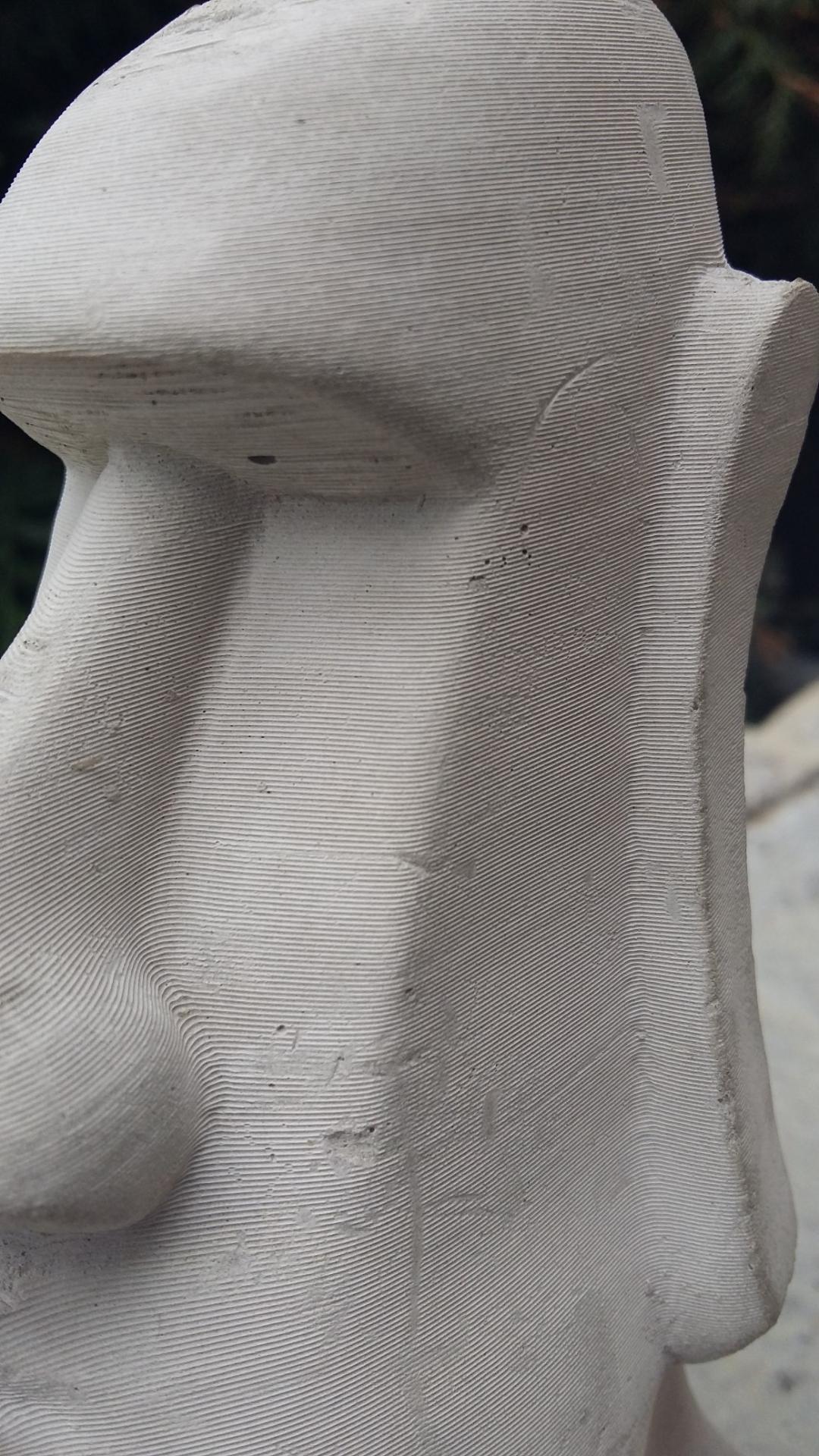 Moai / concrete printing / hight = 18 cm