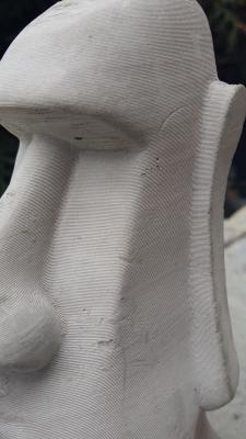 Moai / impression béton / hauteur 18 cm