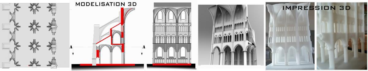 Modelisation impression eglise gothique